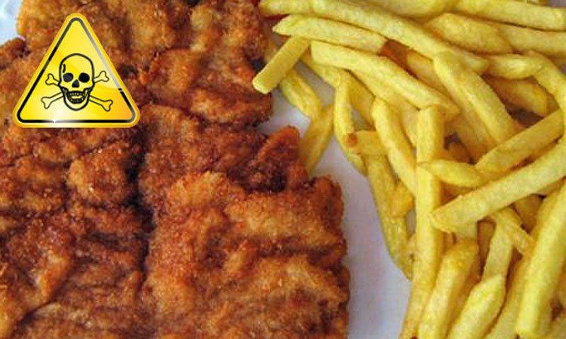 Nezdrava hrana - Dunaski zrezek in pečen krompirček