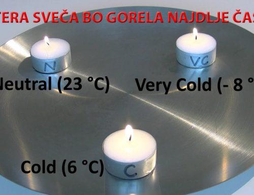 Zamrznjen vosek – ali bo sveča gorela dlje?