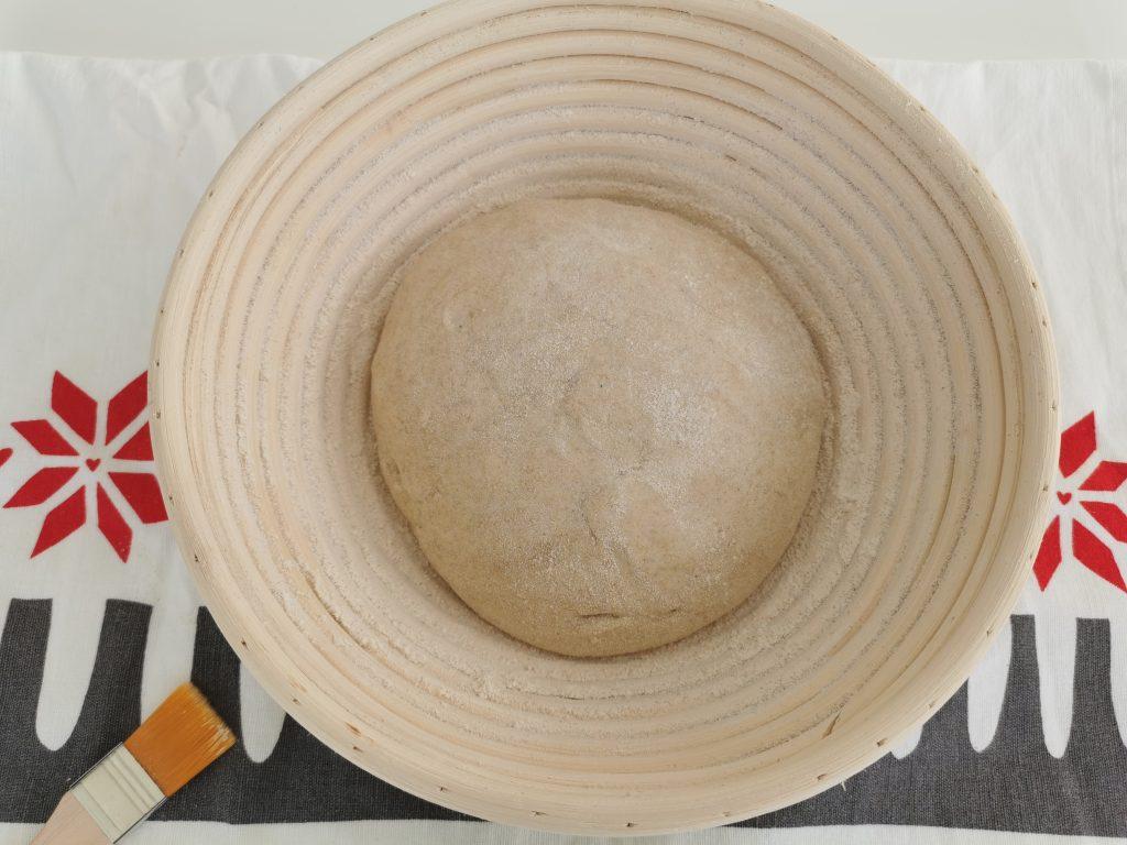 Kruh z droži - košarica za vzhajanje