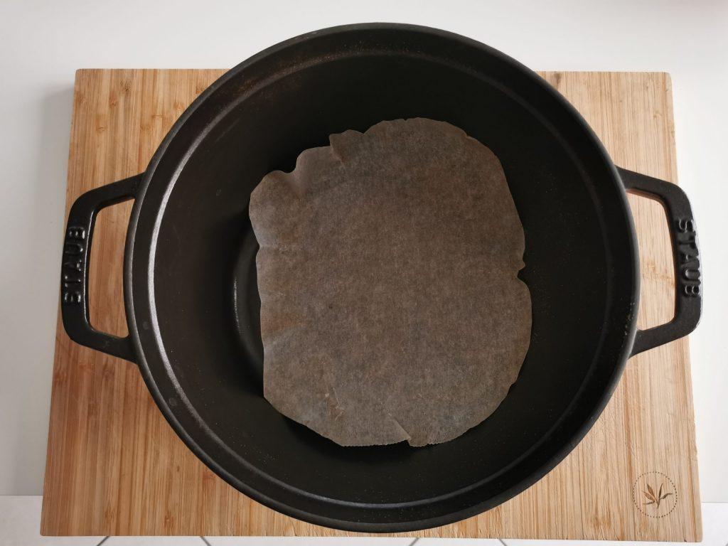 Kruh z droži - peki papir